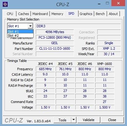 Память в CPU-Z подробнее