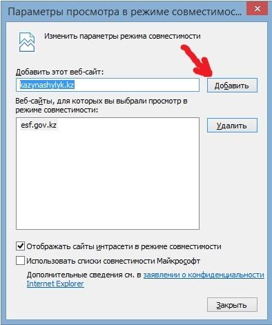 IE совместимость с kazynashylyk.kz