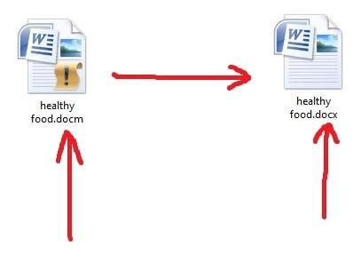 переименовываем расширение нашего файла из docm в docx